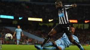 Manchester City 0-2 Newcastle United: Goals from Aarons and Sissoko knock out holders