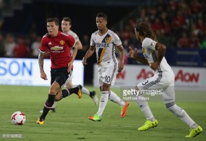 """Victor Lindelöf """"very happy"""" with Manchester United debut in resounding Galaxy win"""