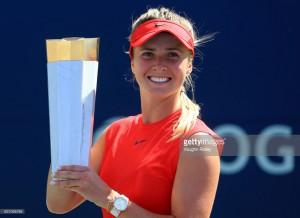 WTA Rogers Cup: Elina Svitolina blows away Caroline Wozniacki to win title