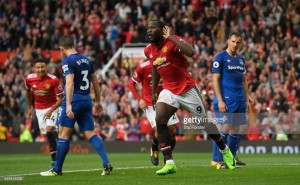 Manchester United 4-0 Everton: Late flurry of goals ensures Mourinho's men keep pace at the top of the table