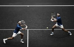 Jogo do século? Roger Federer e Rafael Nadal atuam juntos e vencem partida de exibição