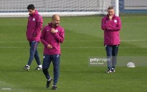 "Pep Guardiola states it is ""too early"" to compare Manchester City to his Barcelona side"