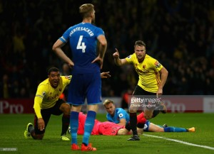 Watford 2-1 Arsenal: Gunners flounder away from home as Cleverley strikes late