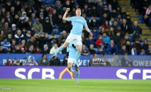 De Bruyne says Guardiola has given City the confidence to 'beat everybody' after Leicester win