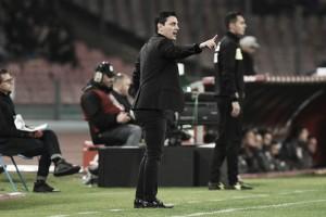 "Montella segue confiante após revés contra o Napoli: ""Brigaremos por Champions League"""
