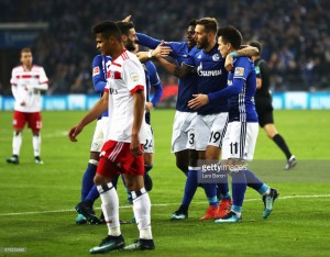 FC Schalke 04 2-0 Hamburger SV: Di Santo and Burgstaller goals move Royal Blues up to second in the Bundesliga