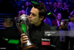 Ronnie O'Sullivan continues his charge towards consecutive ranking titles