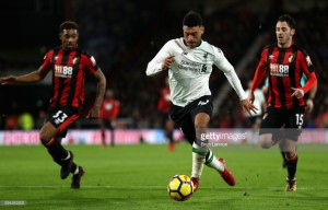 "Oxlade-Chamberlain confident he is ""making strides"" after stand-out display in Liverpool's win at Bournemouth"