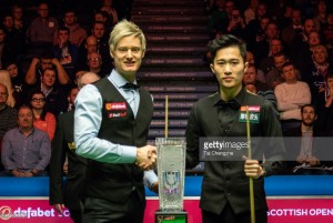 Neil Robertson produces an extraordinary comeback to defeat Cao Yupeng in the Scottish Open final