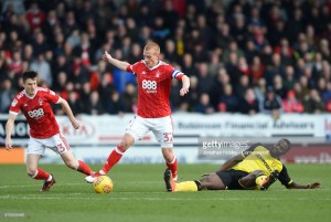 Burton Albion 0-0 Nottingham Forest: Brewers held to goalless draw by 10-man Reds