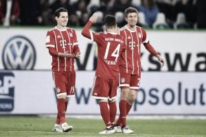 Bayern de Munique vira sobre Wolfsburg nos acréscimos e segue soberano na liderança