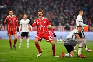 Bayern Munich 5-0 Beşiktaş:Die Roten put one foot in the quarter-finals