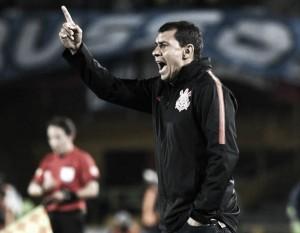 """Apesar de empate na Colômbia, Fábio Carille exalta elenco do Corinthians: """"Saímos satisfeitos"""""""