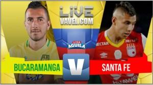 Atlético Bucaramanga remontó y se quedó con los tres puntos ante Independiente Santa Fe (2-1)