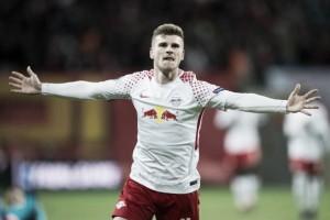 Werner desequilibra e Leipzig sai na frente do Marseille pelas quartas da Europa League