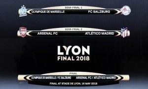 Em reedição de duelo na primeira fase, semifinais da Uefa Europa League são definidas