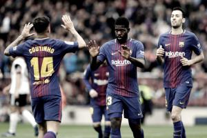 Barça vence Valencia com duas assistências de Coutinho, quebra recorde e se aproxima do título
