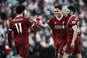Com gols do trio de ataque, Liverpool goleia Bournemouth pela Premier League