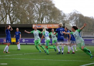 UEFA Women's Champions League: Chelsea 1-3 VfL Wolfsburg - Germans come from behind to secure advantage