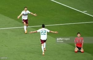 South Korea 1-2 Mexico: El Tri on verge of last 16 place as Hernandez makes history in Rostov