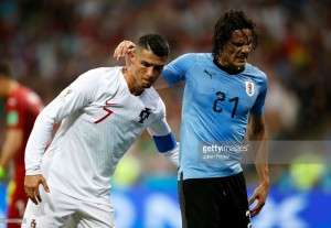 Uruguay 2-1 Portugal: Cavani double sends Ronaldo packing