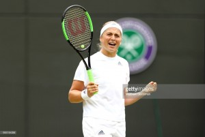 Wimbledon 2018: Jelena Ostapenko reaches semi-finals with win over Dominika Cibulkova