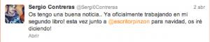 El cantante Sergio Contreras anuncia su segundo libro para Navidad