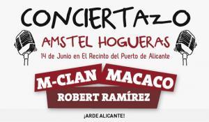 M-Clan y Macaco en el Conciertazo Amstel Hogueras de Alicante