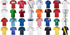 The shirts of Euro 2012