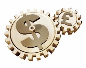 La libra esterlina contra el dólar americano en caída libre