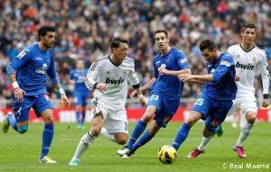 El Real Madrid aprovecha su inercia y golea al Getafe