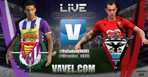 Resultado Real Valladolid - CD Mirandés en la Liga Adelante 2015 (2-1)