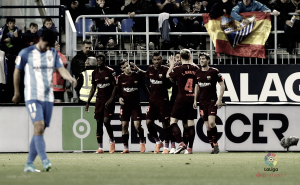 Málaga CF- FC Barcelona, puntuaciones del Málaga, jornada 28 de LaLiga