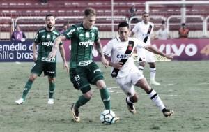 Palmeiras sai na frente com gol de Guerra, mas Vasco empata no fim em Volta Redonda