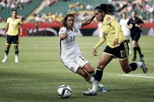 Resultado: Estados Unidos 7 - 0 Colombia en partido amistoso femenino