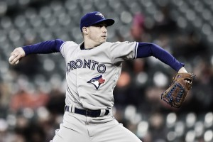 Sanchez's pitching gem, Granderson's late ninth-inning heroics lift Toronto past Baltimore