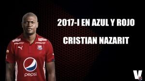 2017-I en azul y rojo: Cristian Nazarit