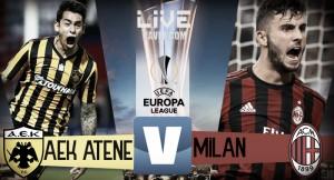 Risultato finale AEK Atene - Milan in diretta, LIVE Europa League 2017/2018: finisce 0-0