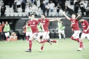 Jogadores do Inter celebram e fazem desabafo após classificação na Copa do Brasil