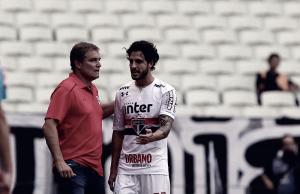 """Após empate sem gols, Diego Aguirre lamenta: """"Não estou feliz, viemos aqui para ganhar"""""""