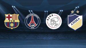 Barcelona, PSG y APOEL, rivales del Ajax en Liga de Campeones