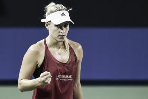WTA Tokyo: Angelique Kerber survives Daria Kasatkina to reach the quarterfinals