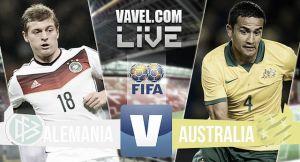 Alemania vs Australia en vivo y directo online (2-2)