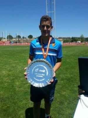 El zaragocista Darío Ramos, con la Selección española Sub-16