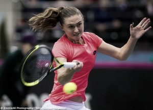 Fed Cup: Aliaksandra Sasnovich produces improbable comeback to keep Belarus alive