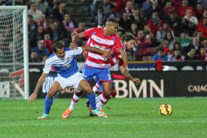 El Arabi ya es el sexto máximo goleador del Granada en Primera