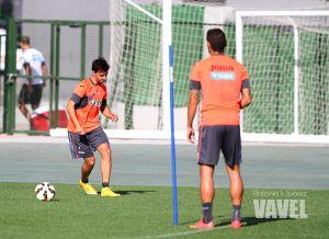 Los lesionados Murillo, Rochina y Machís, los ausentes en el entrenamiento