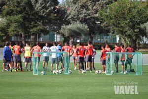 Seis sesiones y un amistoso para preparar el partido contra el Almería