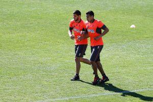 Murillo regresa pero no completa el entrenamiento