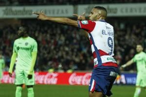 El Arabi iguala a Porta como máximo goleador nazarí en Primera